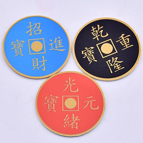 Doowops Colorful Coin (Morgan Version) Magic Tricks One Coin to Three Color Change Appear Vanish Coin Magic Close Up Gimmick Props Funny