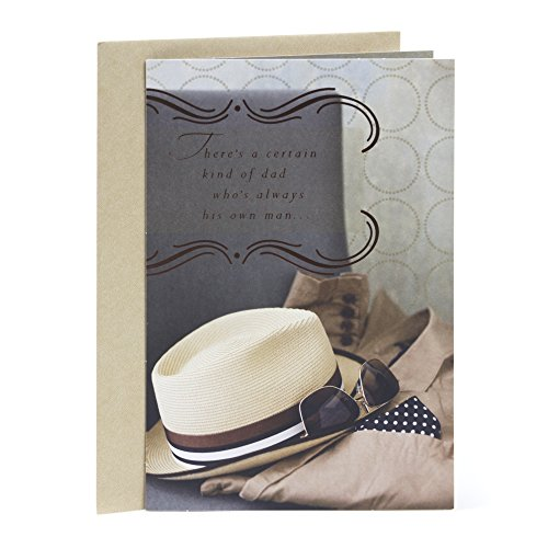 Hallmark Mahogany Birthday Greeting Card for Father (Hat and Sunglasses)