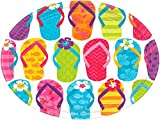 Amscan Sun-Sational Summer Luau Colorful Flip Flops Round Paper 9'' Pack 60 Party Supplies , 360 Pieces