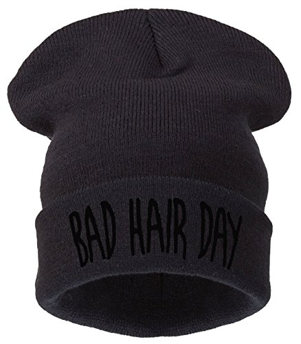 Day Hair tm Winter Bhd Black 4sold Black Warm Beanie Bad Men's Woman 4wdpzS