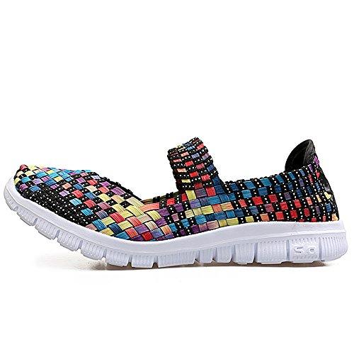 Zapatillas de Color Las de de Deporte de Casuales Transpirables Ligeras Zapatillas Deporte Las Mujeres 0Ar0qw6