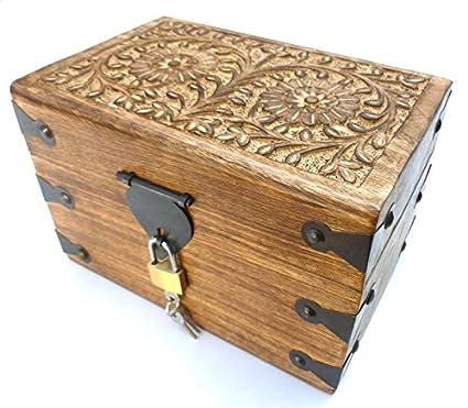 24GS Cassapanca / baule in legno, con serratura: Amazon.it: Casa e ...