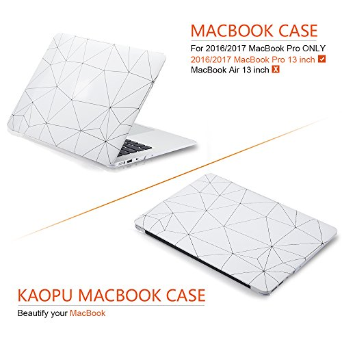 MacBook Case Plastic Hard Shell Cover for 13 Inch Apple MacBook Pro A1706/A1708 (Office Style) by KAOPU (Image #4)