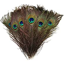 "Natural Peacock Feathers 10""-12"" (50) Wedding Christmas Halloween Décor by Blisstime"