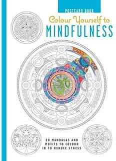 Coloring Flower Mandala Postcards 20 Hand Drawn Designs For Mindful