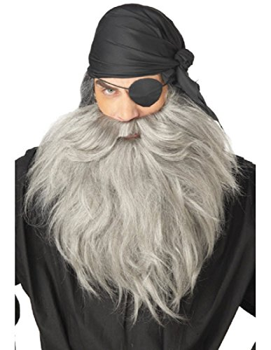 [Pirate Beard & Moustache Costume Accessory] (Homemade Pirate Costumes Womens)