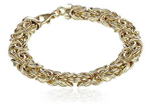 14k Yellow Gold Byzantine Chain Bracelet, 7.75'' by Amazon Collection