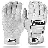 Franklin Sports CFX Pro Series Batting Gloves, Medium, Pearl/White