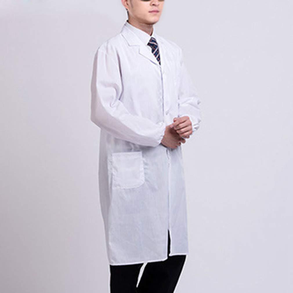 Yuanou Bianco Camice da Laboratorio Medico Ospedale Scienziato Scuola Costume per Gli Studenti Adulti
