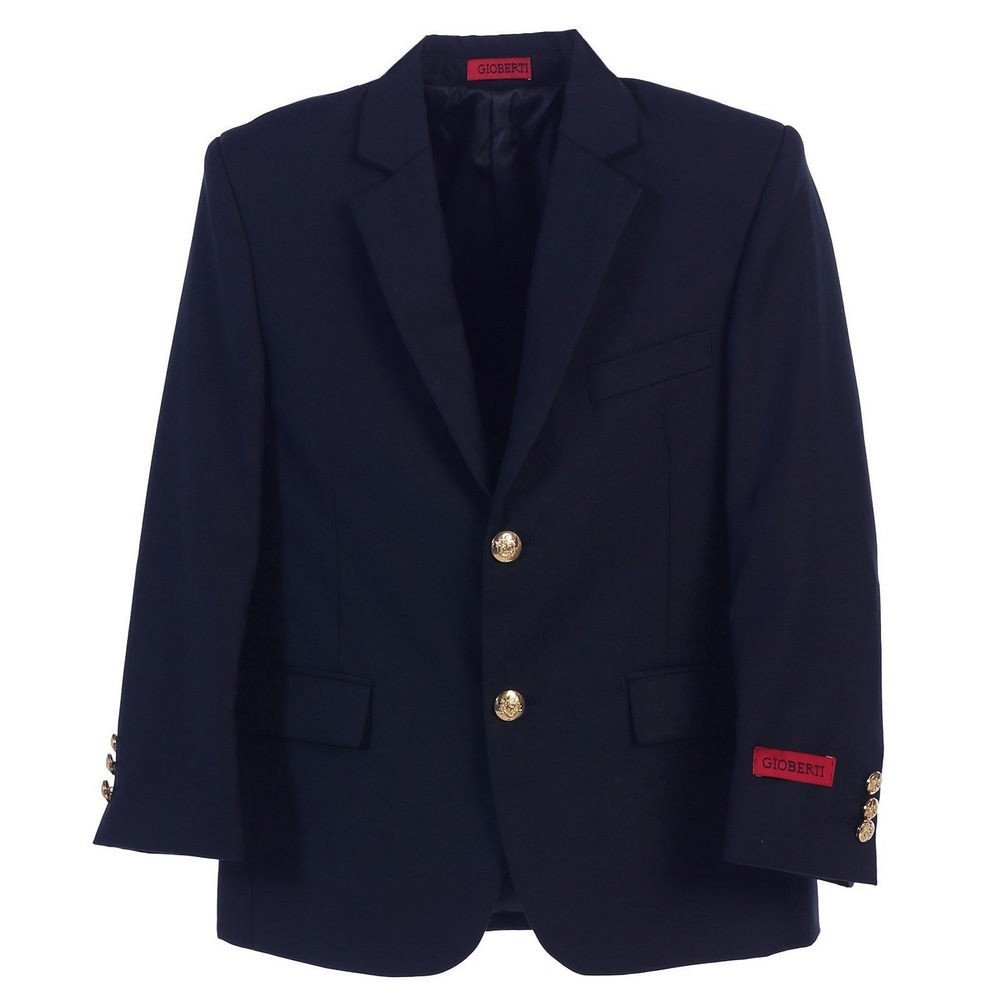 Big Boys Navy Gold Buttons Stylish Blazer Jacket 16 Gioberti