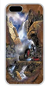 Rails to Pandora Train PC Case Cover for iPhone 5 and iPhone 5s White