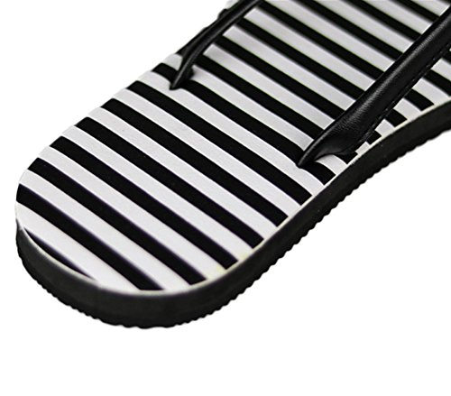 Nanxson(TM) Women Fashion Solid Color Striped Flip-Flop Sandal TX0020 Strips iz1b3k