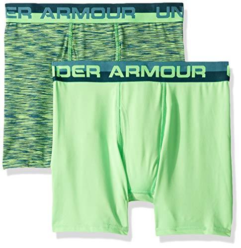 Under Armour Boys' Big 2 Pack Sublimation Print Performance Boxer Briefs, Dust-S192, YSM