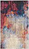Cheap Safavieh Bristol Collection BTL354F Blue and Rust Modern Abstract Distressed Area Rug (4′ x 6′)