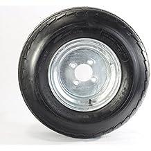"""Two Equipment Utility Trailer Tire & Rim 20.5X8-10 205/65-10 20.5/8-10 10"""" 4Lug"""