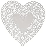 Hygloss Products Heart Paper Doilies – 8 Inch White Lace Doily for Decorations, Crafts, Parties, 100 Pack