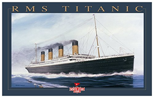 Titanic Gold Ltr Giclee Travel Art Print by Artist Richard DeRosset (12 x 18 - The Portland Mall Maine