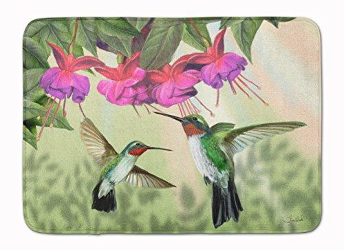 Mat Hummingbird Floor - Caroline's Treasures Fuchsia and Hummingbirds Floor Mat 19