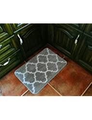 Hihome Non Slip Kitchen Rugs Rubber Backing Grey Kitchen Runner Mats  Entrance Rugs