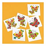 Girls Birthday Party Favor BUTTERFLY Temporary Tattoos ~ NEW