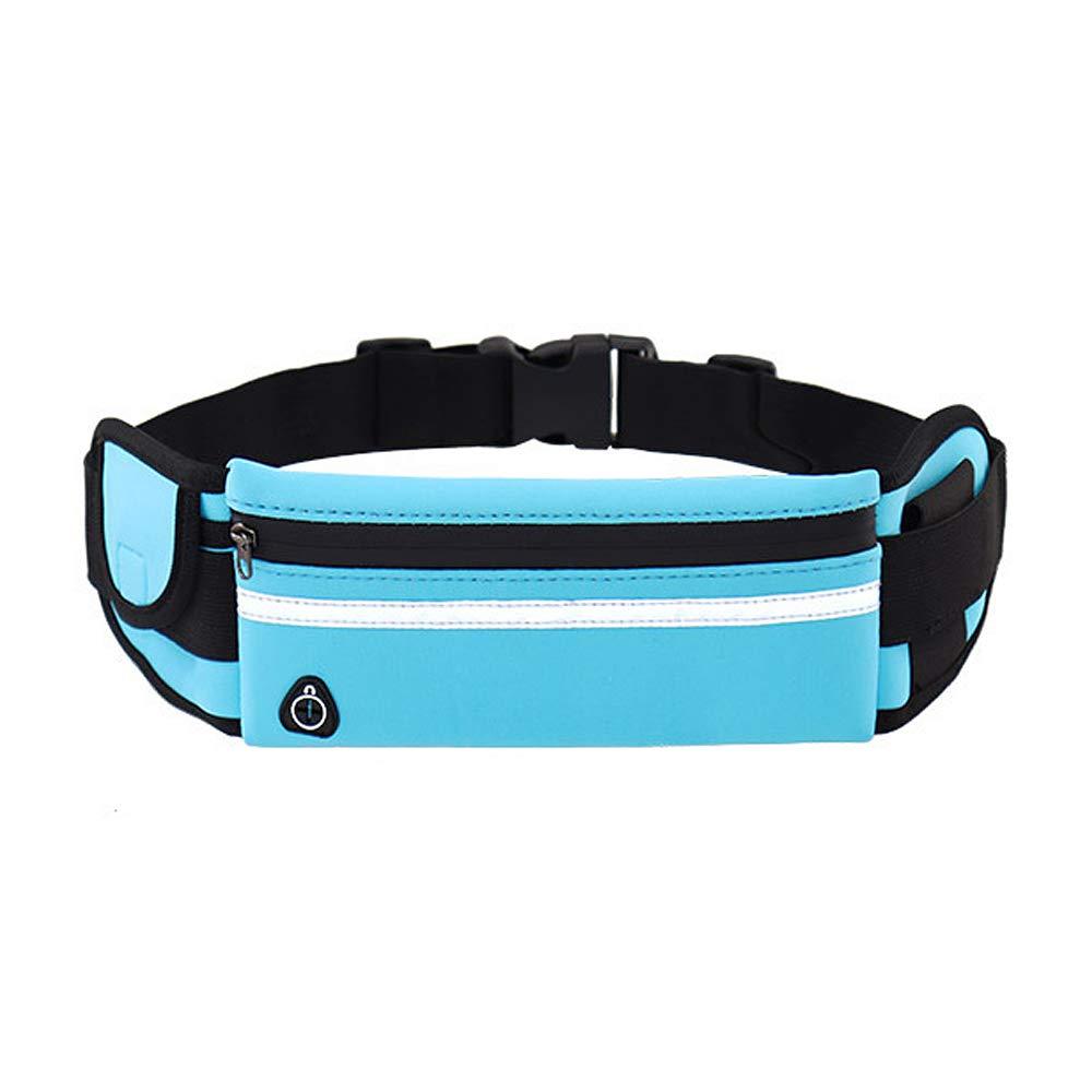 Robluee - Cinturón de Running Belt para Running, riñonera de Deporte/Viaje, Impermeable, multibolsillo, Ligero, para Deporte, portátil y Transpirable, Color Negro, tamaño 21cmx10cmx10cm