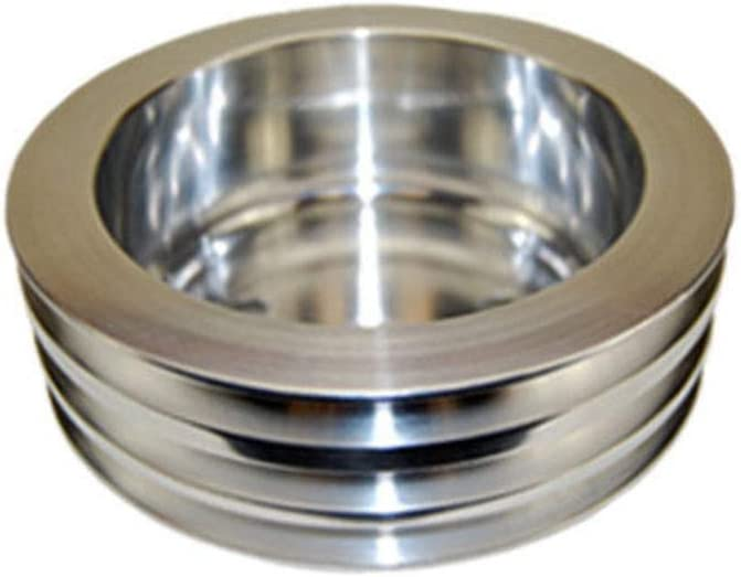 Pirate Mfg SBC Chevy 283-350 Machined Aluminum LWP Triple Groove Crankshaft Pulley