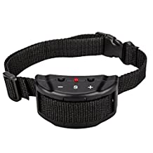 No Bark Collar Anti Barking Olycism Static shock &Deep Dog Collar No Harm No Pain Vibration 7 Sensitivity Levels Adjustable for Medium Large Small Good Behavior Training(2017 upgrade version)