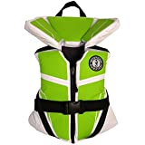 Mustang Survival Lil' Legends 100 Flotation Vest, White/Apple, Youth