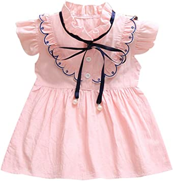 Infant Toddler Baby Girls Clothes Ruffle Fly Sleeve Floral Princess Skirt Summer Boho Dress