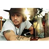 Johnny Depp Nice Silk Fabric Cloth Wall Poster Print (36x24inch)