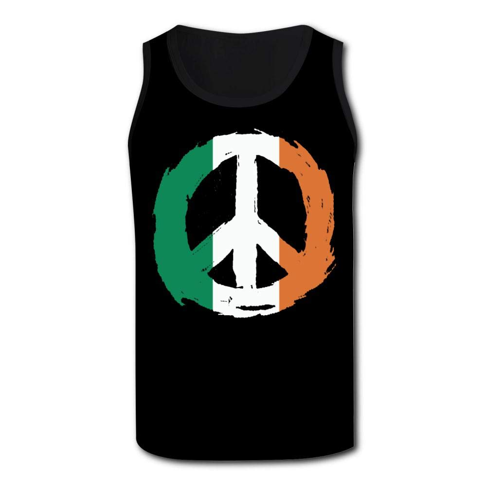 Mens Outdoor Sport Irish Flag Peace Tank Top Vest T-Shirt Fast Drying Tee