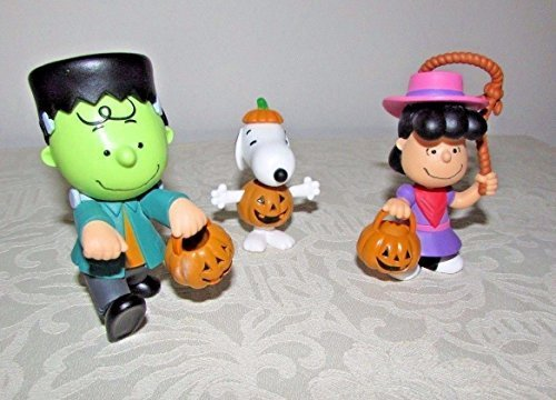 Peanuts Worldwide Peanuts Lucy Snoopy and Charlie Brown Halloween Figures