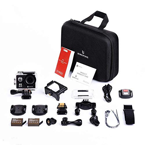 Action Camera, 4K WiFi Ultra HD Video Camera Waterproof DV Recorder 12MP Diving Camera by BOROFONE (Image #6)