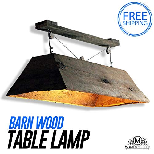 Barn wood Light, Hanging Light, Table Light, Kitchen Table Light, Pool Table Light, Light Fixture, Hanging Light, Home Decor ()
