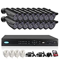 TMEZON Face Detection 16 channel POE NVR 4.0MP IP Security Surveillance Camera System Pre-Installed 2TB HDD (Black)