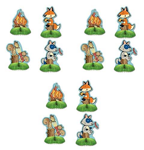 Beistle 54773 12Piece Woodland Friends Mini Centerpieces, 5