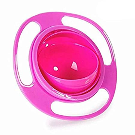 BLU Anti derrame de Smooth 360 Grados de rotaci/ón girosc/ópica taz/ón para Beb/és y Ni/ños Sunlera Universal taz/ón de Fuente Gyro Bowl