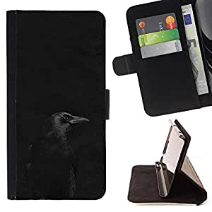 "For Motorola Moto E ( 1st Generation ),S-type Noche Negro minimalista pico oscuro"" - Dibujo PU billetera de cuero Funda Case Caso de la piel de la bolsa protectora"