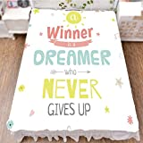 iPrint Bedding Bed Ruffle Skirt 3D Print,Motivational Quote on a Poster with Colorful,Best Modern Style Bed Skirt for Men and Women by 70.9''x78.7''