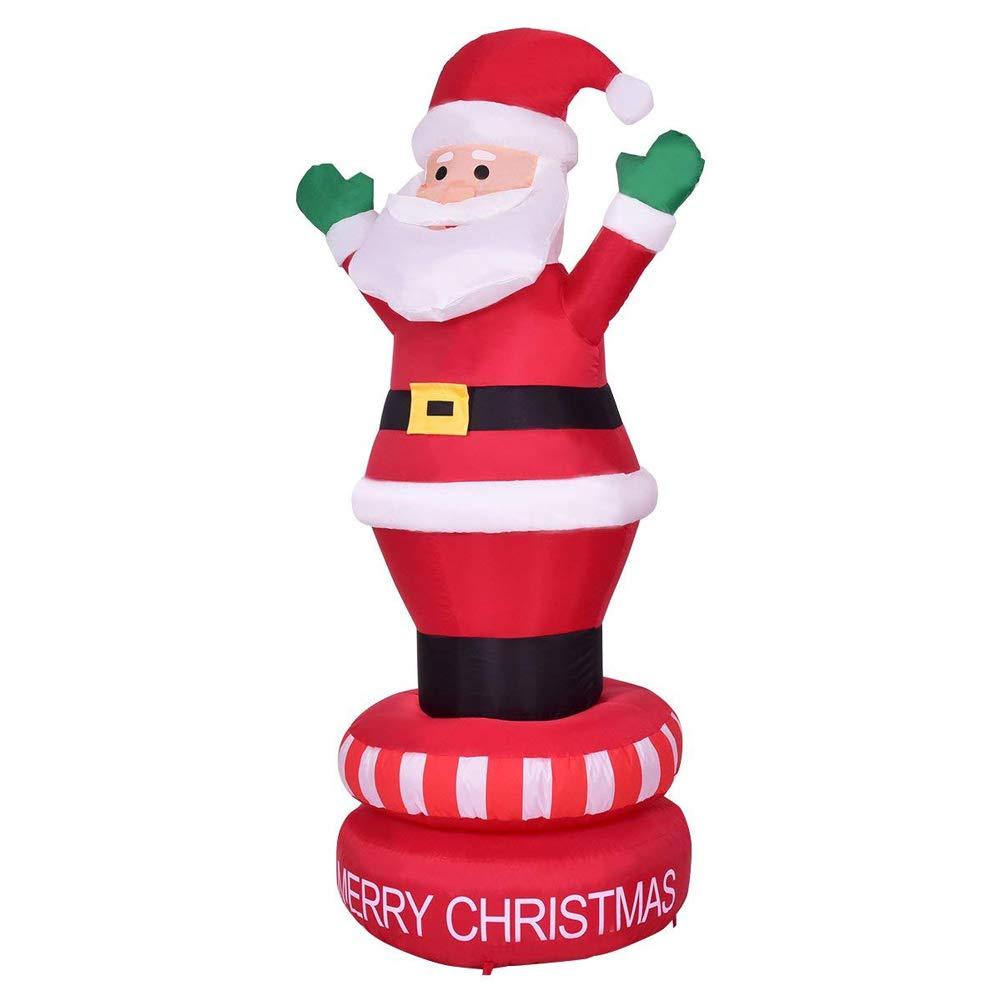 Rziioo - Figura de Papá Noel Hinchable de 6 pies con luz LED ...