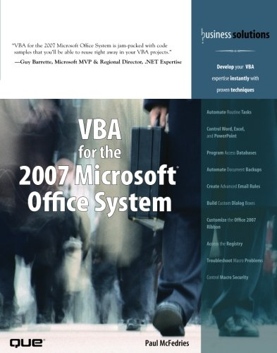 VBA for the 2007 Microsoft Office System by Brand: Que Publishing