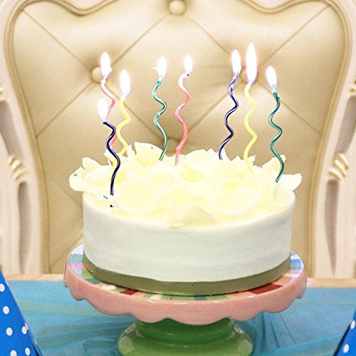 Spiral Birthday Candles Novel Candles Fun Primary Fashion Cr