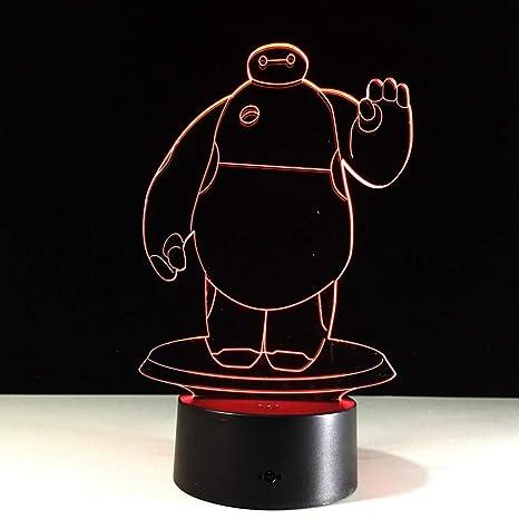 Lámpara de mesa de luz nocturna holográfica 3DLED Lámpara de ...