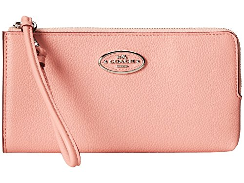 Coach 53413 Refined Leather Zippy Wallet Sv/pink