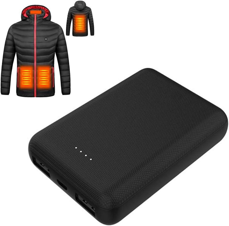 Uyuke Universal 10000mAh 5v Power Bank Bater/ía Externa de Gran Capacidad para Calentar Ropa Chaleco Calefactor Chaqueta Inteligente Temperatura Constante