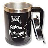 HP Self Stirring Mug - Urbe The Wizard Cat Espresso Purronum - Perfect Gift For Family, Friends, HP Fans - UrbanBrew LLC