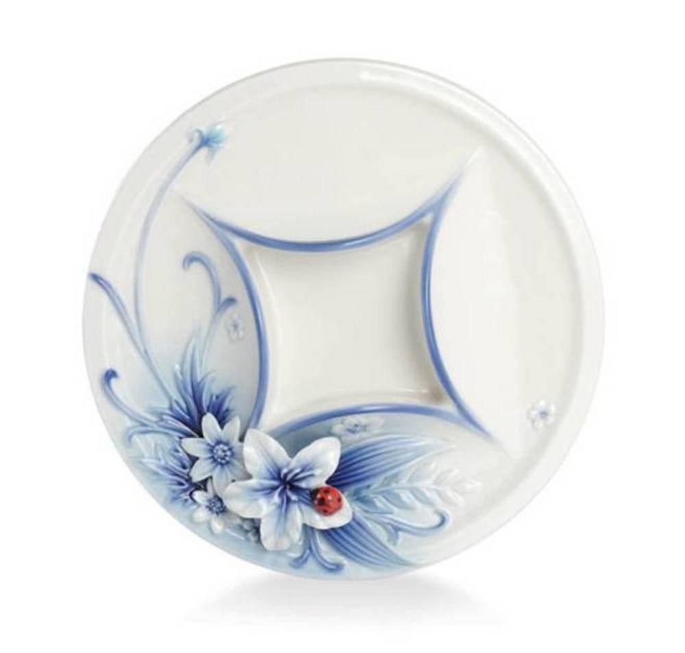 Franz Porcelain Eternal Love round tea light holder by Franz