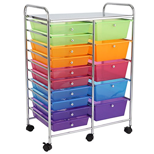 rolling carts with drawers finnhomy 15 drawer rolling cart storage rolling carts with 25620