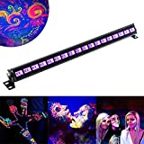 U`King Black light with 3W x 18 LEDs UV Bar for Metallic Blacklight Party Florescent Poster Disco DJ Show Stage Lighting