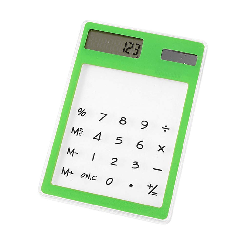 Ultra-Thin Solar Power Calculator Mini Slim Credit Card Solar Power Pocket Calculator for School Home Office (Random)